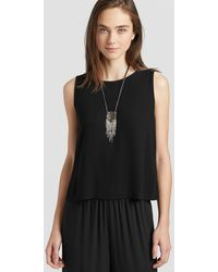 Eileen Fisher - Hand-beaded Silk Necklace - Lyst