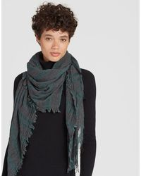Eileen Fisher - Wool Cashmere Sheer-striped Scarf - Lyst
