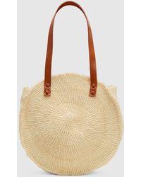 Eileen Fisher - Bamboula Woven Sisal Round Bag - Lyst