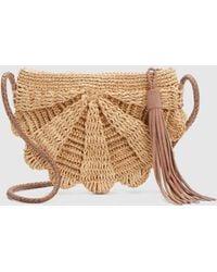 Eileen Fisher - Mar Y Sol Crocheted Raffia Zoe Crossbody Bag - Lyst