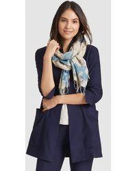 Eileen Fisher - Handwoven Natural Dye Organic Cotton Silk Scarf - Lyst