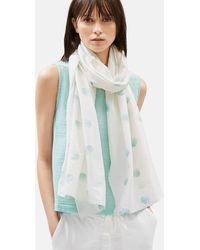 Eileen Fisher - Hand-painted Organic Cotton Scarf - Lyst