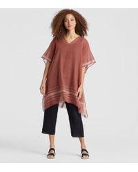 Eileen Fisher - Exclusive Handwoven Organic Cotton Poncho - Lyst