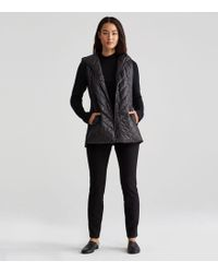 Eileen Fisher - Quilted Recycled Polyester Hooded Jacket - Lyst