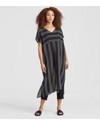Eileen Fisher - Exclusive Organic Linen Gauze Stripe Caftan - Lyst