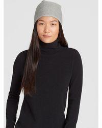 ad5dd9efb81 Eileen Fisher - Lofty Recycled Cashmere Striped Hat - Lyst