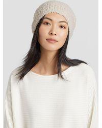 Eileen Fisher - Knit Furry Hat - Lyst