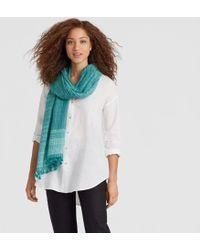 Eileen Fisher - Handwoven Shibori Organic Cotton Silk Scarf - Lyst