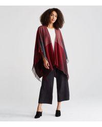 Eileen Fisher | Color-block Wool Serape | Lyst