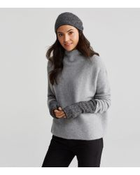 Eileen Fisher - Cashmere Silk Bliss Ministripe Glovelettes - Lyst