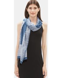 Eileen Fisher - Handloomed Shibori Organic Cotton Silk Scarf - Lyst
