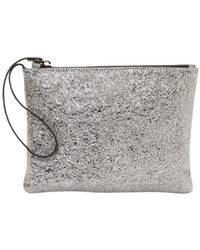 Eileen Fisher - Crackle Coated Leather Wristlet - Lyst