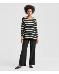 Eileen Fisher - Peruvian Organic Cotton Striped Top - Lyst