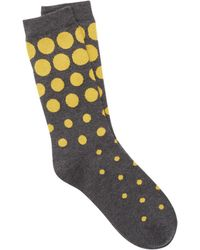 Eileen Fisher - Fine Cotton Two-color Dot Sock - Lyst