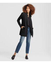 Eileen Fisher - Stretch Grid Long Jacket - Lyst