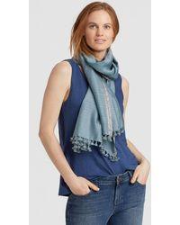 Eileen Fisher - Handwoven Silk Zari Stripe Scarf - Lyst