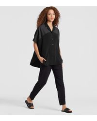 Eileen Fisher - Exclusive Resewn Silk-blocked Shirt - Lyst
