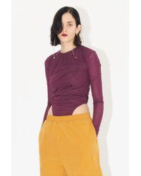 Y. Project - Long Sleeve Bodysuit - Lyst