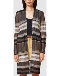 Esprit - Long Striped Cardigan - Lyst