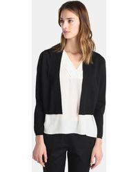 Zendra El Corte Inglés - El Corte Inglés Zendra Black Knitted Cardigan - Lyst