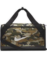 316fe80df1 Lyst - Nike Brasilia Small Duffel Bag (flint Grey black white ...