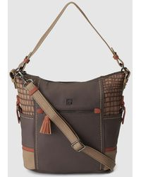 Caminatta - Brown Hobo Bag With Coconut Details - Lyst
