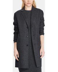 Polo Ralph Lauren - Long Grey Coat - Lyst