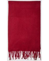 GANT - Plain Red Wool Scarf - Lyst
