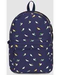 El Corte Inglés - Wo Navy Blue Bird Print Neoprene Backpack - Lyst