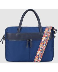 El Corte Inglés - Wo Navy Blue Document Holder With A Multicoloured Strap - Lyst