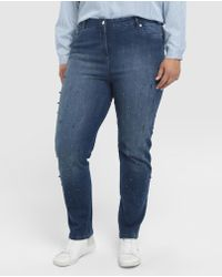 Couchel - Plus Size Skinny Jeans With Pearls - Lyst