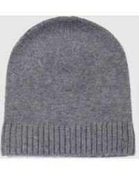 Lauren by Ralph Lauren - Wo Grey Knitted Hat - Lyst