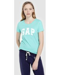 637d28c2ab03b Gap - Short Sleeve T-shirt With Logo - Lyst