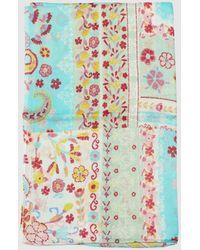 Caminatta - Cotton And Multi-coloured Floral Print Foulard - Lyst