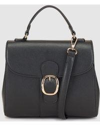 El Corte Inglés - Black Handbag With A Front Buckle - Lyst