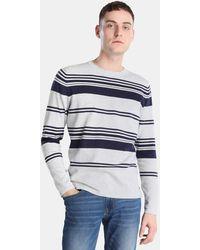 Green Coast - Light Grey Striped Jumper - Lyst