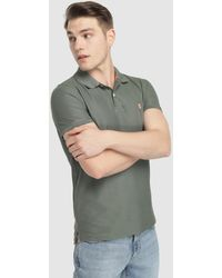 Izod - Regular-fit Green Short Sleeve Piqué Polo Shirt - Lyst