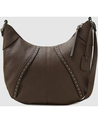 Esprit - Dark Brown Crossbody Bag With Metallic Studs - Lyst