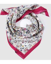 El Corte Inglés - Silk Handkerchief With A Floral Print - Lyst