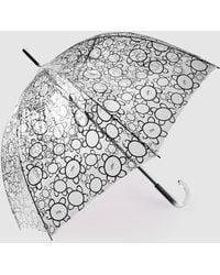 Caminatta Transparent Umbrella With A Black Print
