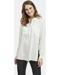Vila - Wo Linen Blend Shirt With Side Slits - Lyst