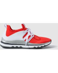 Armani Exchange - Red Lace-up Trainers - Lyst