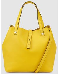Gloria Ortiz - Sofia Small Yellow Leather Shopper Bag - Lyst