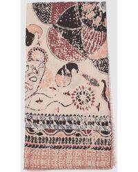 Caminatta - Beige Handkerchief With Embellished Print - Lyst