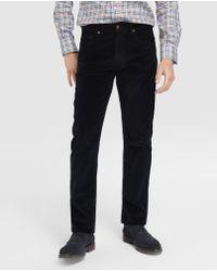Mirto - Regular-fit Blue Corduroy Trousers - Lyst