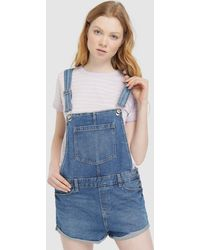 f5a8c185dd6f Green Coast - Wo Short Denim Dungarees - Lyst
