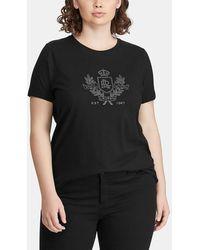 Denim & Supply Ralph Lauren - Plus Size Short Sleeve T-shirt With Rhinestones - Lyst
