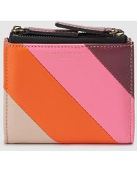 Kurt Geiger - Small Multicoloured Leather Wallet With Fastener - Lyst