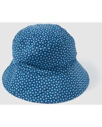 Jo & Mr. Joe - Wo Blue Printed Rain Hat - Lyst