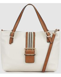 Robert Pietri - Beige Shopper Bag With Front Buckle - Lyst